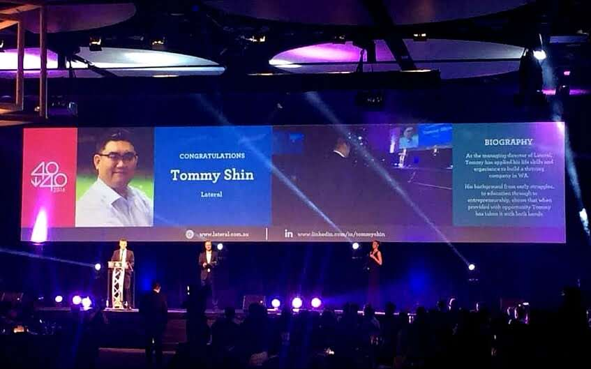 Digital Innovator,Tommy Shin, Wins 40Under40 Award